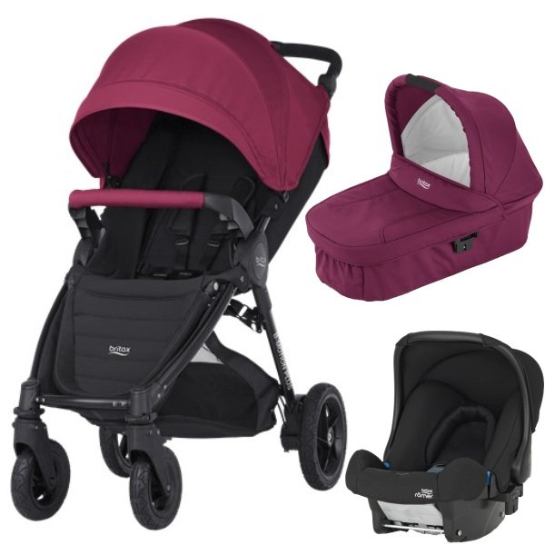 Britax B-MOTION 4 PLUS v setu s autosedačkou Wine Red