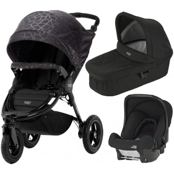 Britax B-Motion 3 PLUS + korba + autosedačka 2019 Geometric Black