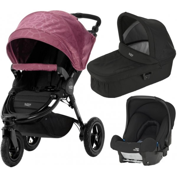 Britax B-Motion 3 PLUS + korba + autosedačka 2019 Geometric Wine Red