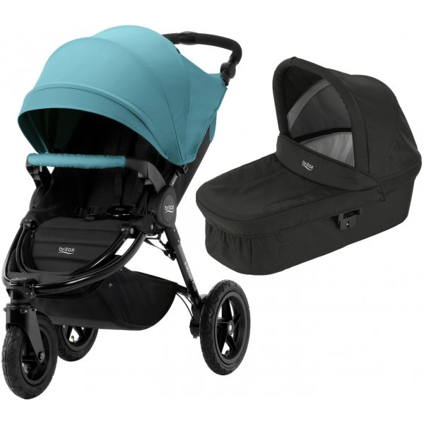 Britax B-Motion 3 PLUS + korba 2019 Lagoon Green